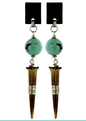 Boucles d'oreilles bijoux nature