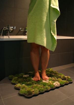 tapis de bain en mousse v g tale. Black Bedroom Furniture Sets. Home Design Ideas